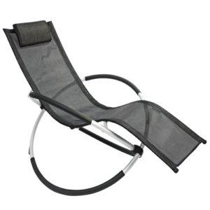 Leco-Schaukelstuhl, schwarz, Reifen-Design